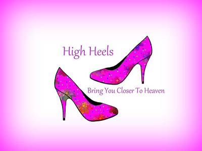 High Heel Heaven Art Print by Kathleen Sartoris