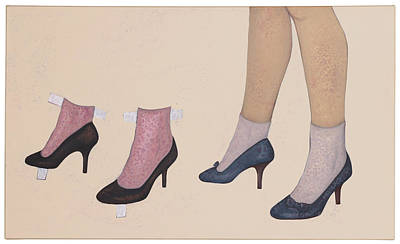 Atkinsky Painting - High Heels And Patches by Judith Sturm