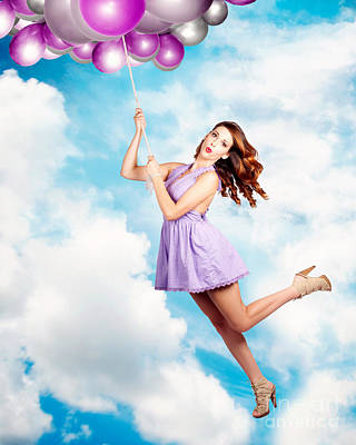 Floating Girl Photograph - High In The Sky Birthday Party Celebration by Jorgo Photography - Wall Art Gallery