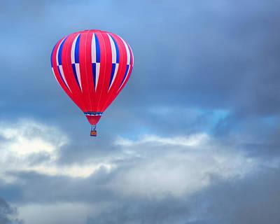 Photograph - High In The Sky - Hot Air Balloon by Nikolyn McDonald