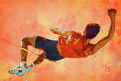 Digital Art - High Jumper by Malcolm Wiseman