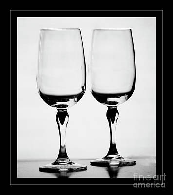 Photograph - High Key Wineglasses by Darleen Stry