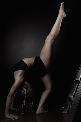 Contortion Photograph - High Kick by Monte Arnold