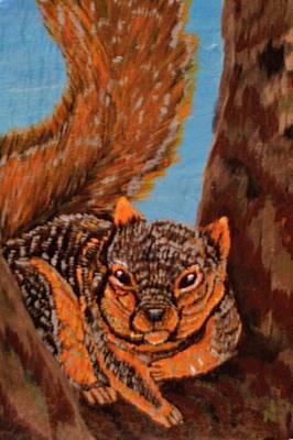 High Knob Fox Squirrel Original by Chris Newell