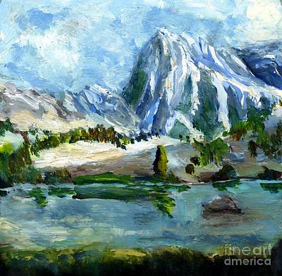 Painting - High Lake First Snow by Randy Sprout
