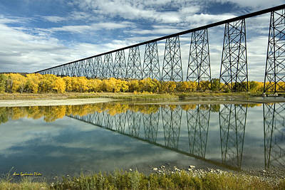 High Level Bridge In Lethbridge Art Print