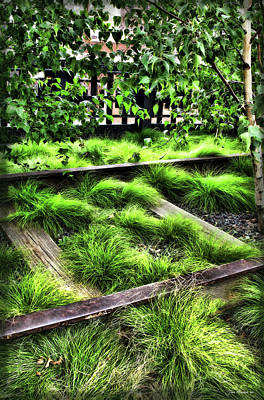 Digital Art - High Line Nyc Railroad Tracks by Joan  Minchak