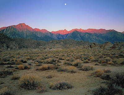 Photograph - High Moon Over Mt. Whitney by Paul Breitkreuz