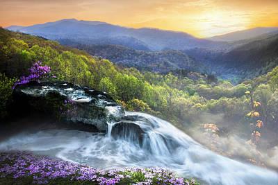 Photograph - High Mountain Cascades by Debra and Dave Vanderlaan