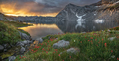 Restful Photograph - High Mountain Morning In Idaho by Leland D Howard