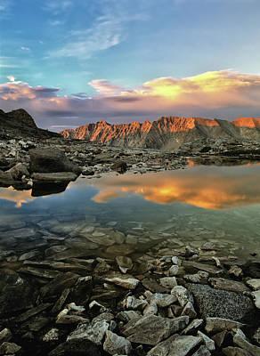 Hard-stone Photograph - High Mountain Sunset by Leland D Howard