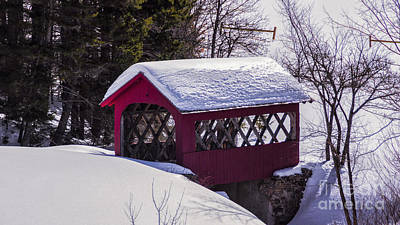 Photograph - High Mowing Farm Covered Bridge by Scenic Vermont Photography
