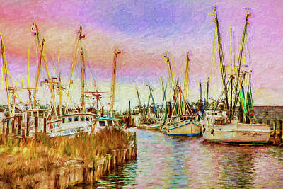 Digital Art - High Noon Fishing On The Outer Banks Ap by Dan Carmichael