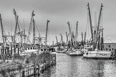 Photograph - High Noon Fishing On The Outer Banks Bw by Dan Carmichael