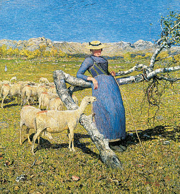 Painting - High Noon In The Alps by Giovanni Segantini