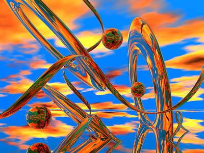 Dada Digital Art - High Noon by Scott Piers