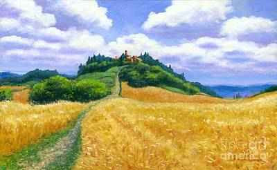 Italian Evening Painting - High Noon Tuscany  by Michael Swanson