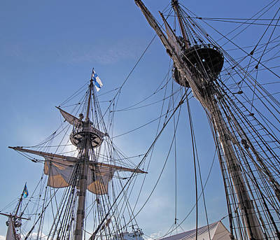 Photograph - High On The Foremast by Allan Levin