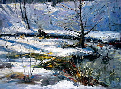 Water Painting - High Park Snow by Andrew Judd