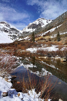 Photograph - High Peak Reflections by Leda Robertson