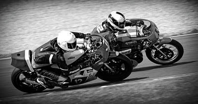 Photograph - High Performance Motorcycle Racing by Daniel Hagerman