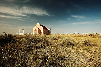 Grave Yard Photograph - High Plains Church by Todd Klassy