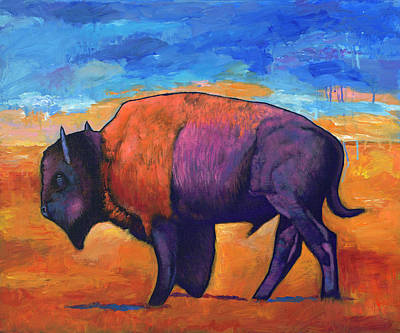 Bison Wall Art - Painting - High Plains Drifter by Johnathan Harris