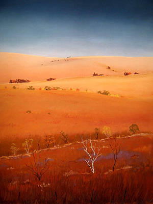 Pastel - High Plains Hills by William Renzulli