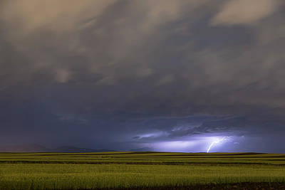 Photograph - High Plains Lightning Strike by James BO Insogna