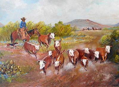 Lynn Burton Wall Art - Painting - High Plains by Lynn Burton