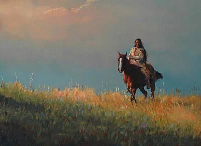 Dakota Painting - High Plains Trail by Jim Clements