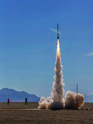 Photograph - High Power Rocket Certification Flight by Peter Thoeny