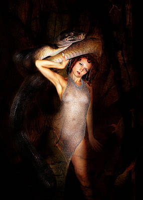 Pagan Nude Photograph - High Priest And Her Snake by Sandy Viktor Nys