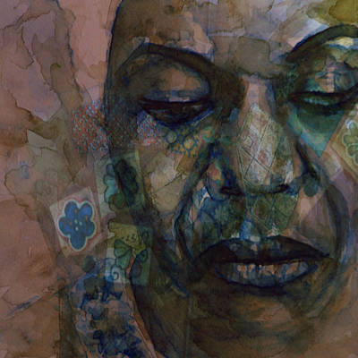 Jazz Legends Wall Art - Painting - High Priestess Of Soul  by Paul Lovering