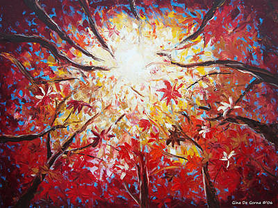 Painting - High Red by Gina De Gorna