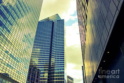 Photograph - High Rise Reflections Nyc by Robin Coaker