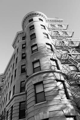 Photograph - High Rise Urban Turret Corner And Fire Escape by SR Green