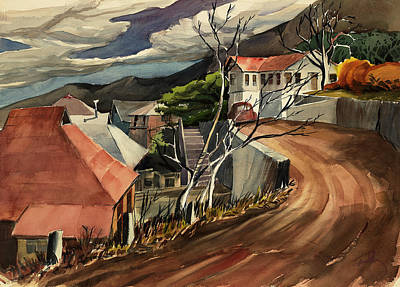 Painting - High Road At Jerome by Thomas Tribby