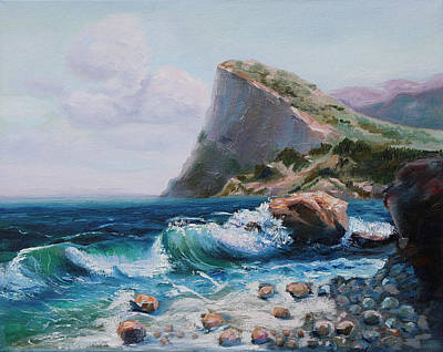 Painting - High Rock On The Sea Shore by Elena Antakova