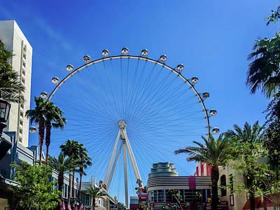 Photograph - High Roller Ferris Wheel - Las Vegas, Nevada by Debra Martz