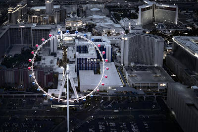 Photograph - High Roller Ferris Wheel by Susan Candelario