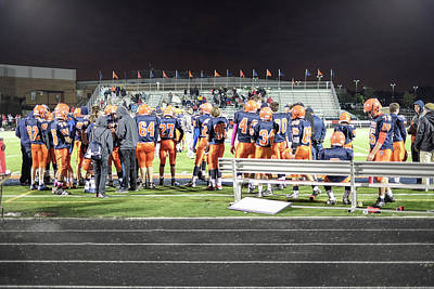 Photograph - High School Football, Chicago by Christopher Rees