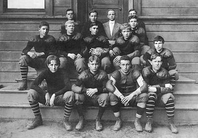 High School Football Team Print by Underwood Archives