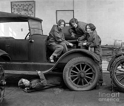 Photograph - High School Mechanics 1927 by Granger