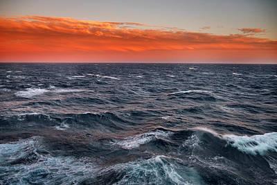 High Sea Windy Storm At Sunset IIi Art Print