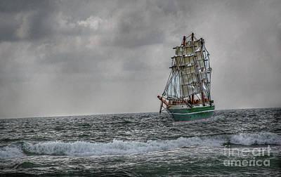 High Seas Sailing Ship Art Print