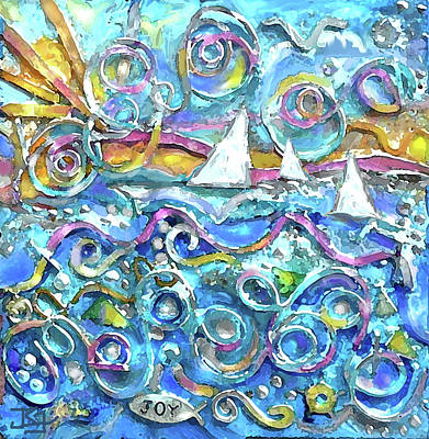 Painting - High Seas Wire Wall Sculpture by Jean Batzell Fitzgerald