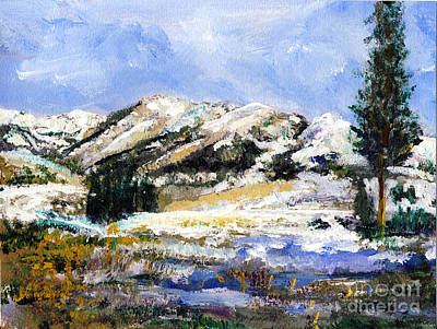 Painting - High Sierra Snow Melt by Randy Sprout