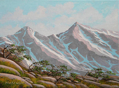 Painting - High Sierras Study IIi by Frank Wilson