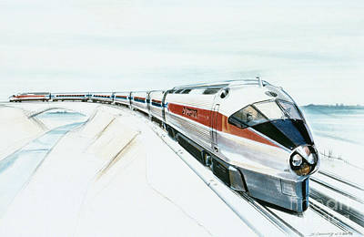 Photograph - High-speed Train by Granger